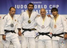 Zviad Gogotchuri (GEO), Grigorii Sulemin (RUS), Chingiz Mamedov (KGZ), Milan Randl (SVK) - World Cup Bucharest (2011, ROU) - © IJF Media Team, International Judo Federation